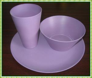 China bamboo fiber tableware on sale