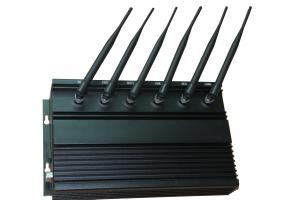 China High Power WIFI 2G / 3G Cell Phone Jammer with Cooling Fans , 6 Antenna on sale