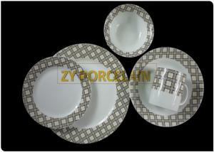 China Garden Harvest 16 Piece Dining Ware Set , Stackable Full Dinner Set OEM / ODM Available on sale