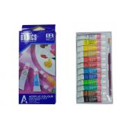 Strong Adhesion Basics Colored Acrylic Paint Set , Artists Paint Pigments 12 X 6ml Tubes