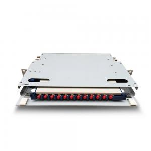 China 12 And 24 Core  Fiber Optic Distribution Box , 19'' 1U Rack Mount Optical Distribution Frame on sale