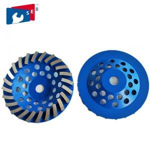 China Blue 4.5 Concrete Grinding Wheel , Diamond Grinding Wheels For Granite on sale