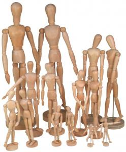 China Full Size Wooden Human Mannequin / Figure , Wooden Drawing Doll For School on sale
