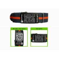 China Nato Strap Kids ID Bracelet Size Customized With Black Engravable Tags on sale