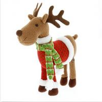 Cute Christmas Reindeer Soft Toy , 12 Inch Stuffed Animal Christmas Ornaments