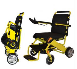 China Lightweight foldable electric power travel wheelchair on sale