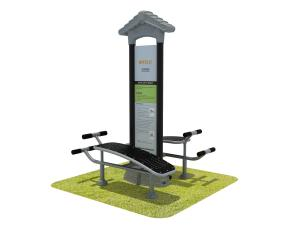 China Commercial Adults Outdoor Park Gym Equipment For Amusement Parks on sale