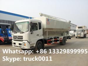 China dongfeng Cummins190 20cbm Euro 3 bulk feed truck for sale, poultry and livestocks farm-oriented feed transported truck on sale