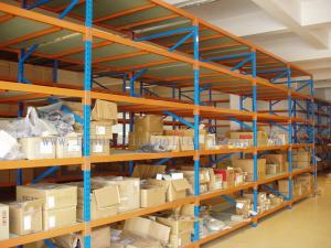 China Teardrop Multi Layer 82FT/2.5M Industrial Metal Shelving In Warehouse Storage Solution on sale