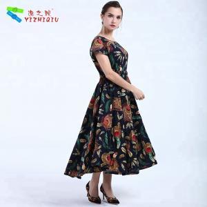 China YIZHIQIU black bohemian women dresses wholesale on sale
