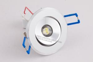 China White,Warm White 3 W 270 - 300LM LED Recessed Ceiling Light Fixtures With Ф68mm * 25mm on sale