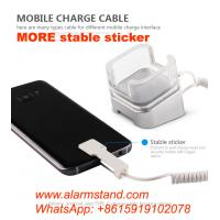 China COMER mobile phone cable locking security acrylic stands with alarm charging cord for mobile phone accessories store on sale