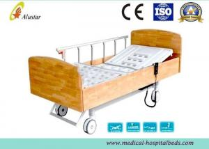 China Wooden Side Board ABS Homecare Electric Hospital Beds With Central Control Brake (ALS-E510) on sale