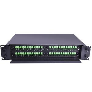 China 72 Core Ports Rack Mount ODF Fiber Optic Patch Panel on sale