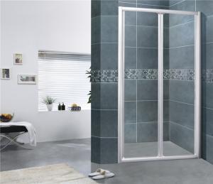 China Sand Silver Folding Shower Doors Full Aluminum Alloy Bathroom Shower Enclosures on sale