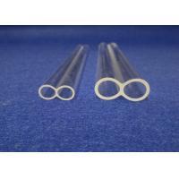 China Custom Fused Twins Silica Glass Tube High Purity Quartz Sand Made on sale