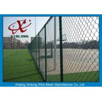 China Diamond Wire Mesh Fence Chain Link Fence For Outdoor Playground 50 * 50mm on sale
