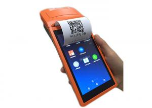 China Portable Payment Android Handheld POS Terminal with Printer / 5.5 Inch Touch Screen on sale