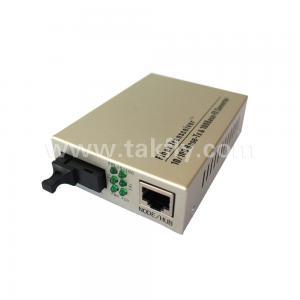 China 10/100M Single mode multi mode simplex dual fiber optic ethernet media converter on sale