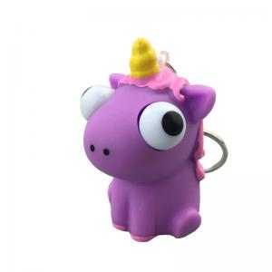 China Creative Cartoon PVC Soft Rubber Unicorn Eyes Pop Out Key Chain, Custom Anime Toys, Eye Pop Out Squeeze Toys on sale