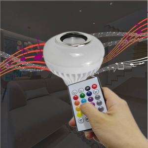 China Smart LED Bulb with Bluetooth Speaker Remote Control RGB Colorful Bulb on sale