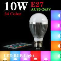 RGB E14/E27 10W LED Bulb Lamp with Remote Control AC 85-265V