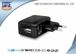 China EU Switching AC DC Power Adapter , 1A Universal Wall Adapter Usb Lightweight on sale