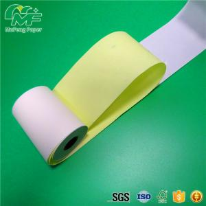 China 2 1/4\'\' Width Carbonless Copy Paper , Two Part Carbonless Printer Paper With Paper Core on sale