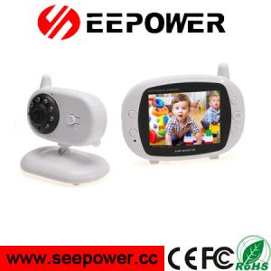 China 3.5 Inch White Support 4 Cameras Digital Wireless Two Way Speaker Baby Monitor on sale
