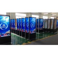 Indoor Floor Standing LCD Advertising Display Multi Language Support High Definition