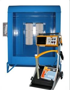 China Electric Spray Powder Coating Booth Equipment And Gun 240V / 480V , 3 Phase on sale