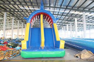 China Kids Lake inflatable water slide, high quality inflatable water park on sale