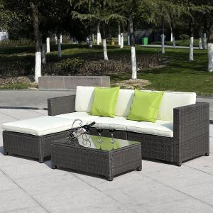 China 2017 wicker outdoor furniture Rattan sofa furniture /rattan garden furniture sectional sofa on sale