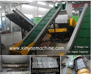 China V - Shape Rotor PET Bottle Plastic Crusher Machine / Plastic Recycling Equipment on sale