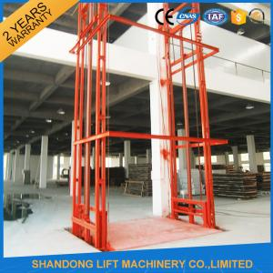 China Lead Rail Hydraulic Heavy Duty Elevator Lift Equipment Outdoor 200mm Pit Depth on sale