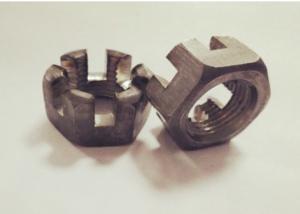 China Hexagon Head M16 X 1.5 Castle Nut GB60 Standard Fine Thread Corrosion Resistance on sale