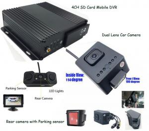 China 4G GPS Car Taxi Mobile DVR solution to View Passengers inside with Rear view Parking sensor Camera on sale