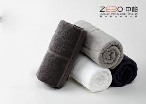 China Personalized Pure Cotton Towels Black , White Hotel Towels Eco Friendly on sale
