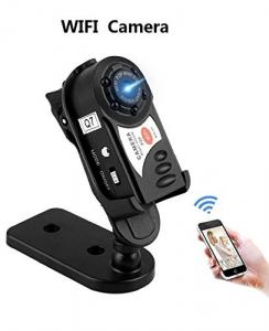 China Wireless mini wifi camera Q7 video recording camera supports phone connection multi-use,works as wireless ip camera on sale