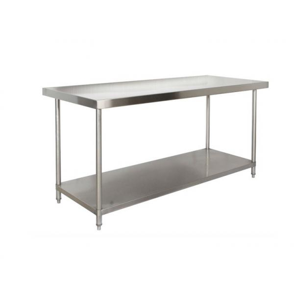 Restaurant / Hotel Commercial Catering Equipment Two Layer SS Kitchen Work  Table Images