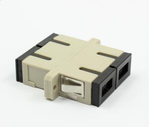 China Plastic SC Fiber Optic Adapter Multimode For Optical Fiber Patch Cable on sale