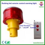 flashing led remote control warning light/remote controlled strobe lights/Solar Powered Rechargeable 12pcs Led Warning F