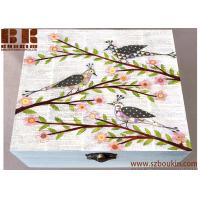 China Whimsical Bird Large Wooden Jewelry Box Collage Bird Gift Box Gift Wooden Craft on sale
