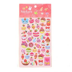 China 3D Foam Sweet Cakes Food Toy Decorative Puffy Stickers For Kids Fun and Promotional Gift on sale