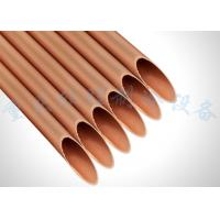 Bendable Copper Refrigeration Coil Pipe , Internally Grooved Copper Coil Tubing
