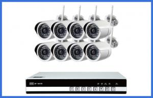 China 8 Ch Wireless CCTV Camera Kits Megapixel Waterproof IP 720P / 960P / 1080P on sale