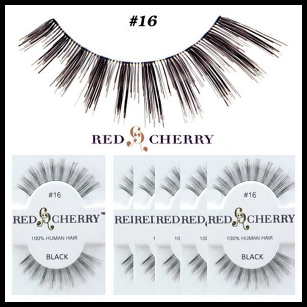 2015 Hot Sale Human Hair Handtied Red Cherry False Eyelashes For