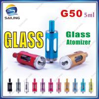 China 5 ml G50 Blue Pyrex Atomizer , 3.2V - 4.8V 2.2ohm Ladies E Cigarette on sale