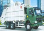 6x4 LHD / RHD Refuse Compactor Truck , HW70 Cabin Rubbish Collection Truck
