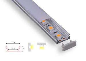 China Customized Aluminium Channel Profiles , Slim 7mm Flex Led Strip Diffuser on sale